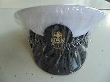 USN US NAVY ALL RANKS CPO & OFFICER CLEAR COMBO COMBINATION CAP HAT RAIN COVER
