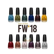 CHINA GLAZE - NAIL LACQUER  .5oz - FW18 FULL COLLECTION 2018