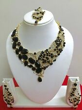 Indian Bollywood Designer Gold Plated Bridal Fashion Jewelry Necklace Set