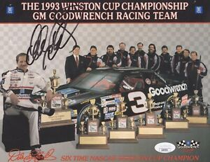 DALE EARNHARDT (RIP) SIGNED/AUTOGRAPHED 8X10 photo NASCAR  JSA CERTIFIED