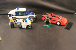 LEGO City High Speed Chase 60007 - Complete w/Minifigures  NO Box or Manuals