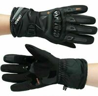 Winter Gloves Full Finger Carbon Knuckle Protective Leather Motorbike Motorcycle
