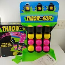 Parker Brothers Throw in a Row Game 1992 Neon Tic Tac Toe Ball Toss + Box RARE