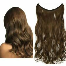 """15-24"""" Wavy Human Hair Extension halo Flip In Invisible Wire 100% Human Hair 80g"""