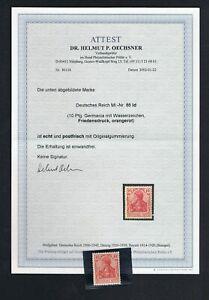 D. Reich 86Id ** postfrisch mit Attest  C179