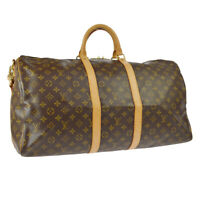 LOUIS VUITTON KEEPALL 55 BANDOULIERE TRAVEL BAG FL0044 MONOGRAM M41414 AK43215