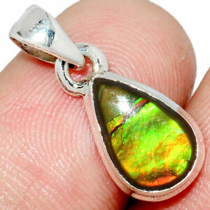 Canadian Ammolite 925 Sterling Silver Pendant Jewelry AP238082