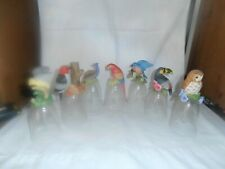 7Crystal Glass Bells with Birds