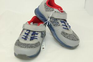 NWT Surprize by Stride Rite Size 11 Toddler Light Up Gray Boys Shoes Sneakers