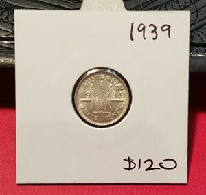 1939 australian threepence coin
