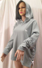 Victoria's Secret PINK Lace Up Sides Pullover Hoodie Sweat Shirt Olive Green M