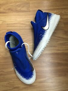 NIKE PHANTOM VSN GHOST. BLUE LACE ASTRO TURF SOCK TRAINERS SIZE 7.5/42.