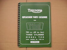 TRIUMPH T150 TRIDENT PARTS BOOK FOR 1969 - 1970 MODELS