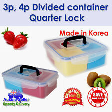 Multi Layer Plastic Food Container Lunch Box Bento Square Lock Microwave Safe