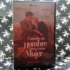 CUANDO UN HOMBRE AMA A UNA MUJER (Luis Mandoki) VHS . Meg Ryan,  Andy García,  E