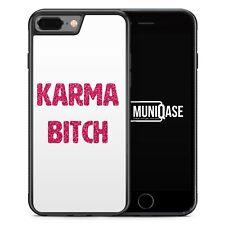 iPhone 7 Plus - Hülle SILIKON Case Karma Bitch Glamour Mädchen Frauen Damen Coo