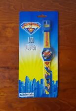 New Sealed - Vintage 1999 Superman LCD Watch DC Comics Playworks Collectible
