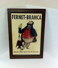 Fernet Branca Framed Advertising Poster Italy - NEW!!