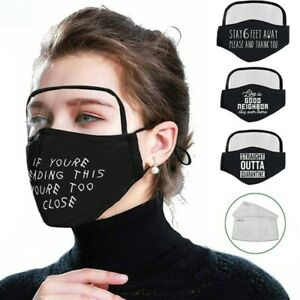 Men Women Cotton Windproof Outdoor Face Protective Face Mask with Eyes Shield