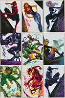 Amazing Spiderman #800 J Scott Campbell Virgin Signed Set A B C D E F G H I