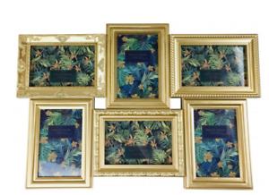 6 Multi Gold Photo Picture Frames Home Wall Mount Hanging Gift Set Collage