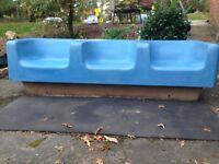 Mid Century 3 Seat Fiberglass Sofa