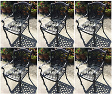 Outdoor dining chairs set of 6 cast aluminum furniture Flamingo 100% Rust Free!