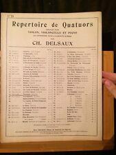 Messager fantaisie Véronique Delsaux partition piano violon violoncelle Choudens
