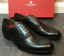 Men,s - Grenson - Dylan - Black Oxford Brogue Shoes - UK 9.5