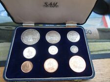 More details for 1952 george vi south africa mint 9 coin set crown - short box