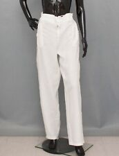 VOYAGE MARINA RINALDI Trousers 100 % Linen Ivory Pants 21 UK16