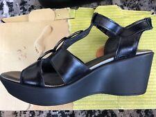 Noat Women's Black Wedge Sandal Shoes Size 38