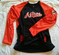 Houston Astros MLB BaseBall Pullover Sweatshirt Jersey X Grain NWOT Size 2XL
