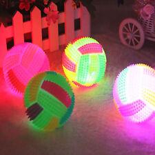1x 6.5cm LED Volleyball Flashing Light Up Bouncing Hedgehog Ball Kids Pets Toys