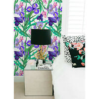 Flowers IRIS Non-Woven Wallpaper roll Floral blue mural Traditional Modern Home
