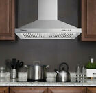 """30"""" Wall Mount Range Hood Stainless Steel 350CFM Kitchen Over Stove Vent w/ LEDs photo"""