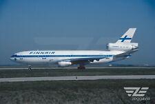 Aircraft Photo 4 x 6 N345Hc Douglas Dc-10 Finnair, 1990s