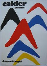 Aleander Calder (1898-1976) stabiles Galerie Maeght Orig Plakat Lithografie 1971