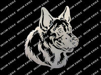 GERMAN SHEPHERD -- Silhouette Head Metal Plasma Cut Wall Art Police Dog Sign