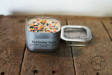 Birthday Cake Candle Tin, Vanilla Scented, 8oz Natural Soy Wax Candle