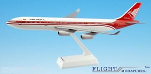 Air Lanka (79-99) A340-300 Airplane Miniature Model Plastic Snap-Fit 1:200 Part#
