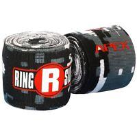 New Ringside Apex Kick Boxing MMA Handwraps Hand Wrap Wraps 180 Black White Camo