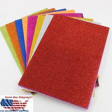 10Pcs Adhesive Glitter Scrapbooking Paper Vinyl Sticker Art Sheets  Craft 8x12''
