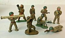 GROUP OF 8 HAND PAINTED TOY LEAD SOLDIERS -- BARCLAY WWII AUBURN