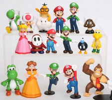 18pcs Super Mario Bros Action Figures Set Cake Topper Decor Kid Toy New