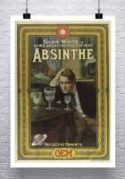 Absinthe Gem Vintage Advertising Poster Rolled Canvas Giclee Print 24x32 in.