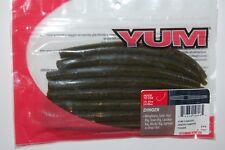 "yum dinger 5"" green pumkin senko bass soft plastic wacky texas rig lure"