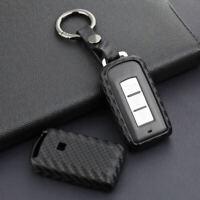 Fiber CAR Key Holder Accessories For Mitsubishi ASX Outlander Lancer RVR  FEM