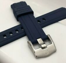 OMEGA SEAMASTER 300 CO AXIAL 20MM RUBBER WATCH STRAP FLEXIBLE BLUE MENS BAND