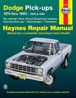Haynes Repair Manual 30040: Dodge Pick-Ups, 1974 Thru 1993